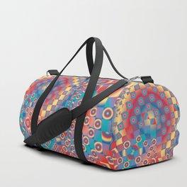 retro psychedelic Duffle Bag
