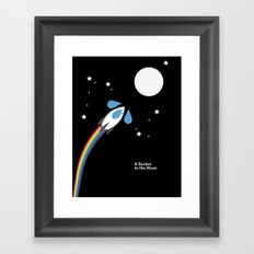 A Rocket to the Moon Framed Art Print