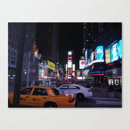 Times Square Cabs Canvas Print