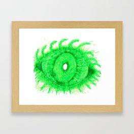 Green Eye Framed Art Print
