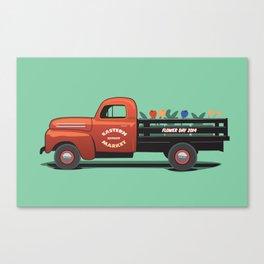 Eastern Market Flower Truck Canvas Print