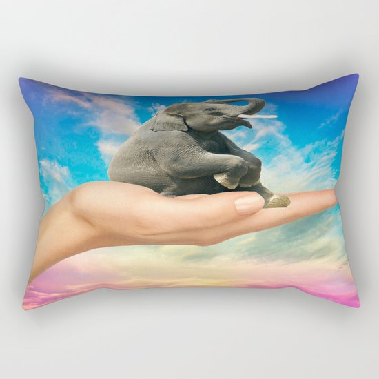 Save The Elephants Rectangular Pillow