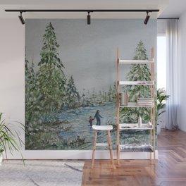 Walking in a Winter Wonderland Wall Mural