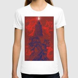 Fight Like Lexa - BLUE & BRT RED T-shirt