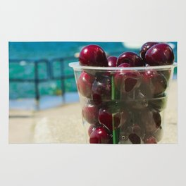 National Cherry Festival - Traverse City, Michigan - Local Sweet Cherries In A Cup Rug