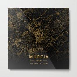 Murcia, Spain - Gold Metal Print