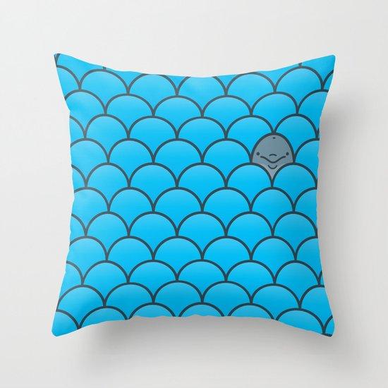 The Last Dolphin Throw Pillow
