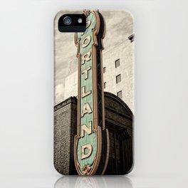 Portland Oregon Marquis iPhone Case