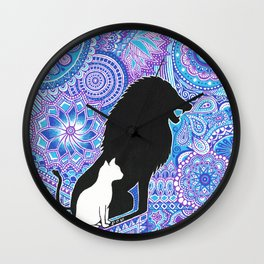 The lion's strength ! Wall Clock