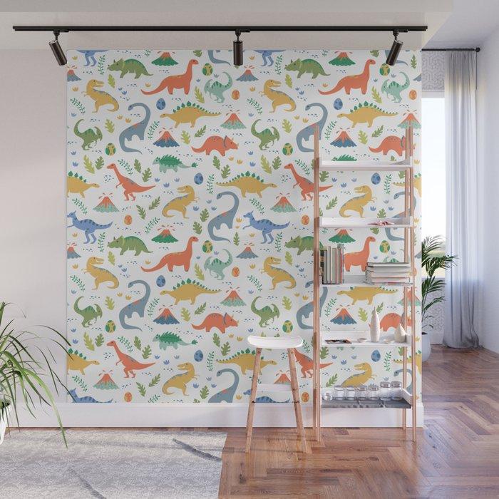 Dinos + Volcanoes Wall Mural