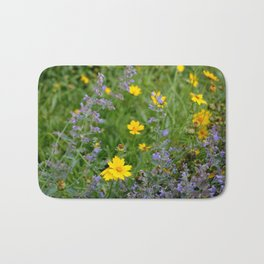 Wildflowers , Coreopsis and Tickseed Bath Mat