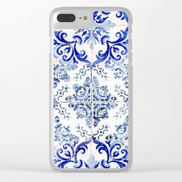 azulejos - Portuguese painted tiles Clear iPhone Case