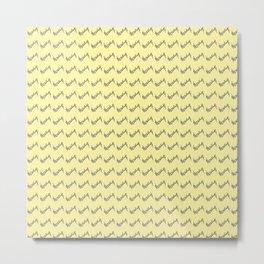 Nola ...Pale  yellow Metal Print