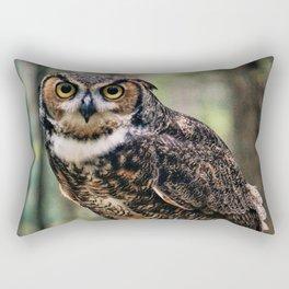 Majestic Owl Stare Rectangular Pillow