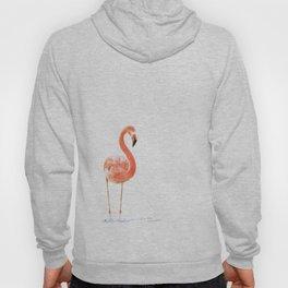"""Just Peachy"" - 5"" x 7"" acrylic painting of a Flamingo by Teresa Thompson Hoody"