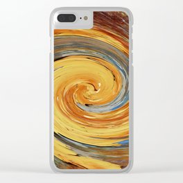Swirl 03 - Colors of Rust / RostArt Clear iPhone Case