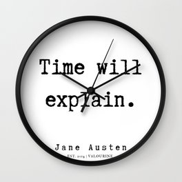 78    | Jane Austen Quotes | 190722 Wall Clock