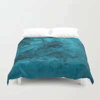 mucha Duvet Covers featuring Oxum by Fernando Vieira