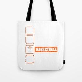 Eat Sleep Basketball Repeat Basket Ball Ring Rebound Team Action Sports Game Gift Tote Bag