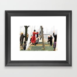 MORNING RECESS Framed Art Print