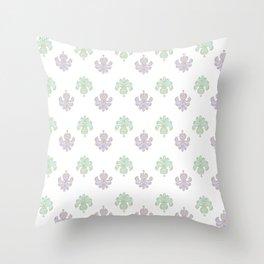 Bodoni: Aqua and Lilac Throw Pillow