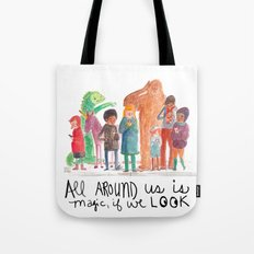 Look up, people! Tote Bag