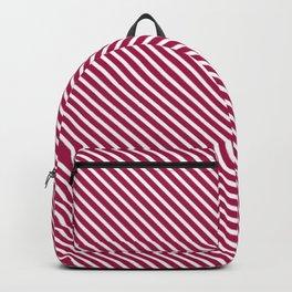Cerise Stripe Backpack