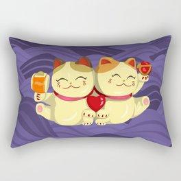 """FortuNEKO - """"Toffee & Candy"""" Rectangular Pillow"""