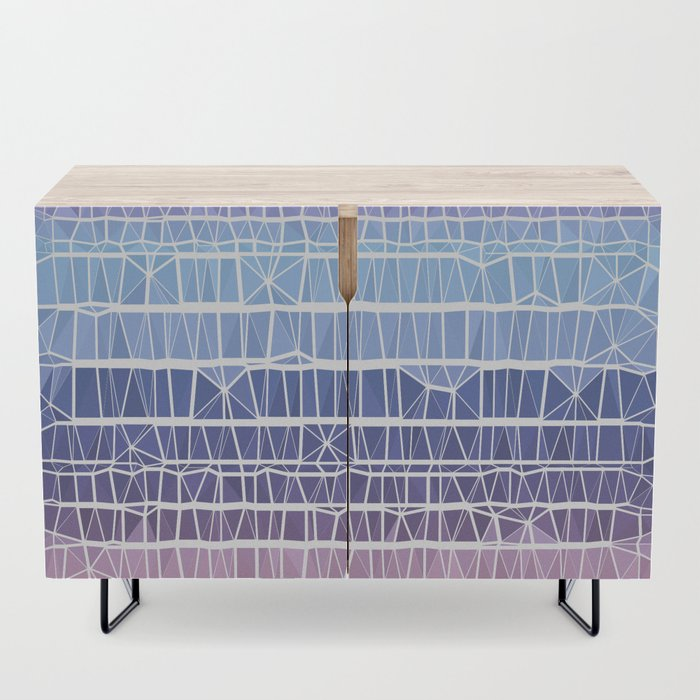 Low Poly Pink, Purple, and Blue Gradient Credenza