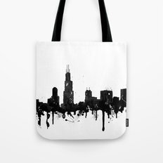 Watercolor Chicago Skyline Tote Bag