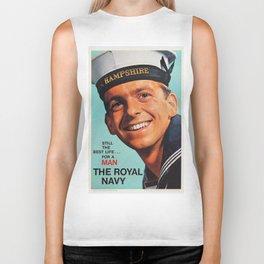 Royal Navy vintage poster Biker Tank