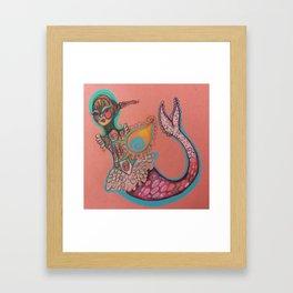 indian goddess mermaid Framed Art Print
