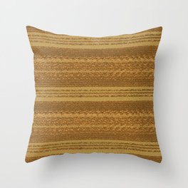 Big Stich Yellow Straw - Knitting Fabric Art Throw Pillow