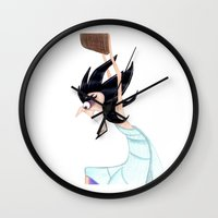 hercules Wall Clocks featuring Artist from Hercules by Sierra Christy Art