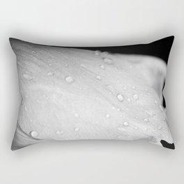Flower In Drops Rectangular Pillow