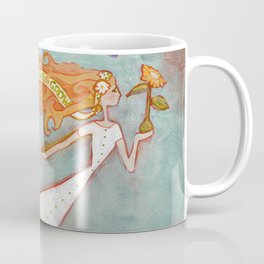 Flying Girl Lets Go, or Trust That The Seeds You Plant Will Grow Coffee Mug
