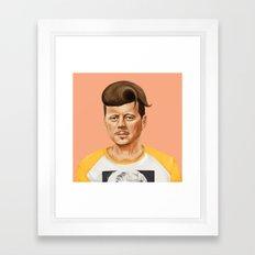 Hipstory -  John F Kennedyn Framed Art Print