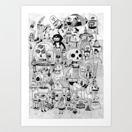 US AND THEM  Art Print
