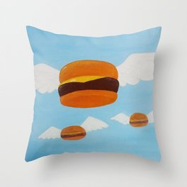 Bob's Flying Burgers Throw Pillow