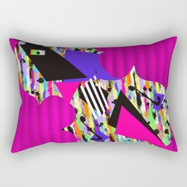 Cello Abstraction on Hot Pink Rectangular Pillow