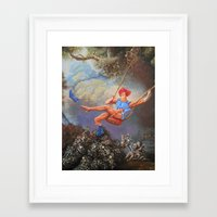 thundercats Framed Art Prints featuring Thunder Swing by Hillary White