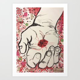 Catching Dots Art Print