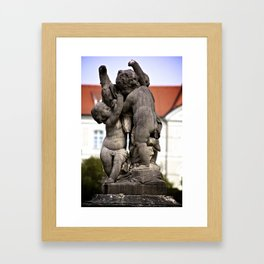 Garden Statue from Munich Framed Art Print