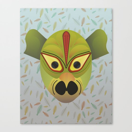Devil amphibian bird mask Canvas Print