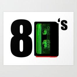 80's - Retro audio cassette - Pop culture - 1980 Art Print