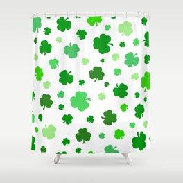 Green Shamrock Pattern Shower Curtain