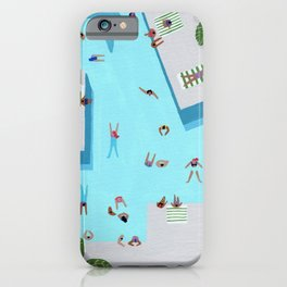 Crisp cut swim iPhone Case