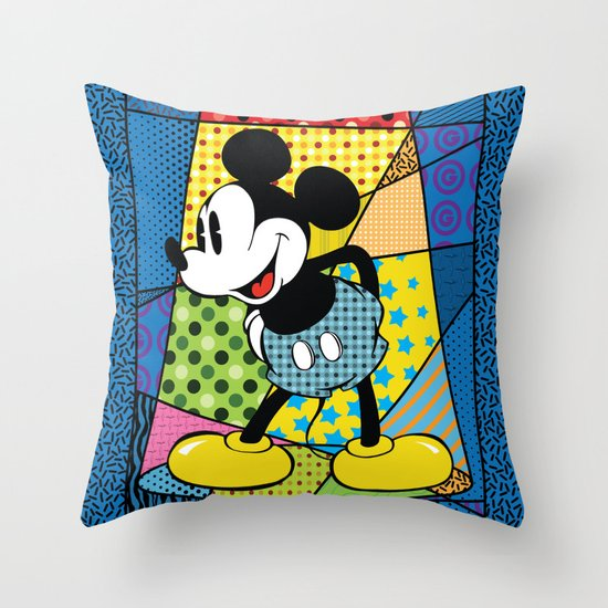 Mickey Spotlight Throw Pillow by Gary Grayson Society6