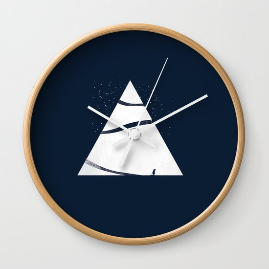 time to snow! Wall Clock