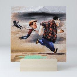 Taking The Cat For A Run Mini Art Print